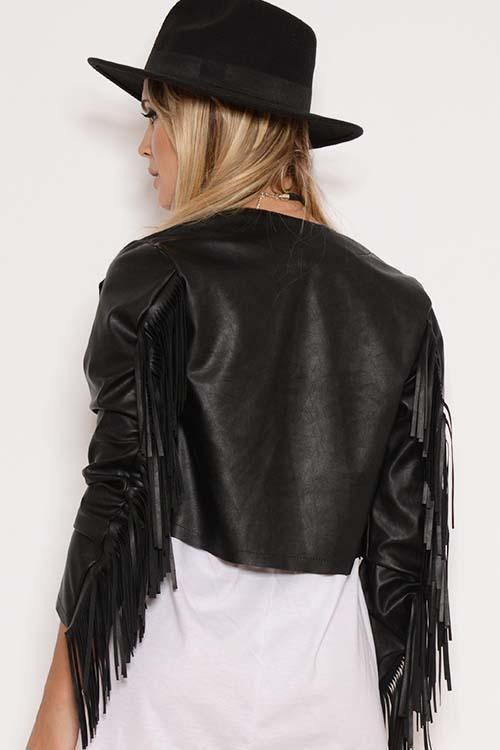Resultado de imagen para chaquetas de cuero con flecos