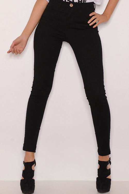 Pantalon Negro Elastizado